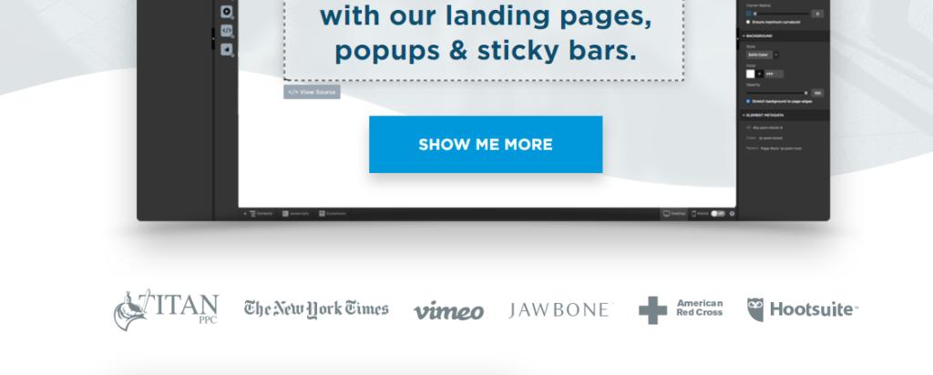 Landing Page Clientele